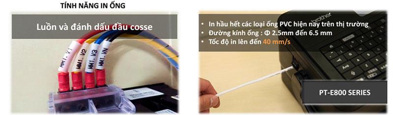 tính năng in ống của máy in ống